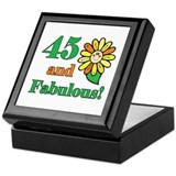 Fabulous 45th Birthday Keepsake Box