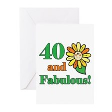 Fabulous 40th Birthday Greeting Cards (Pk of 10)