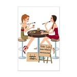Seminole Sushi Girls Mini Poster Print