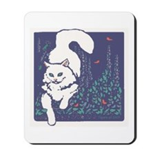 White Cat Mousepad
