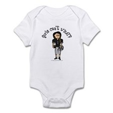 Dark Black Football Infant Bodysuit
