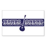 Blues Scene Rectangle Decal