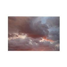 Red & Grey Clouds Rectangle Magnet