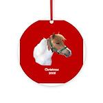Miniature Horse (Mini) Christmas Ornament (Round)