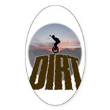 'Ride Dirt' oval sticker