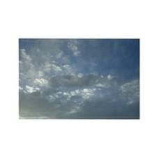 Fluffy White Clouds Rectangle Magnet