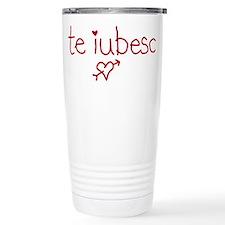 Te Iubesc! Ceramic Travel Mug