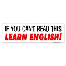 Learn English! Bumper Bumper Sticker