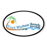 Fort Walton Beach FL Oval Sticker (10 pk)