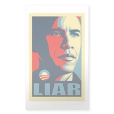LIAR Rectangle Sticker 10 pk)