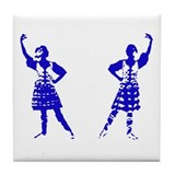 Highland Dancer Tile Coaster