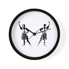 Highland Dancer Wall Clock