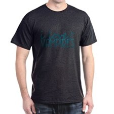 I love Vampires - blue T-Shirt
