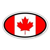 Maple Leaf Flag of Canada Euro Oval  Aufkleber