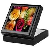 Colorful Roses Keepsake Box