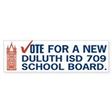 Change Duluth School Board Bumper Bumper Sticker