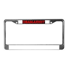 Cute Impeach tea party protest obama License Plate Frame
