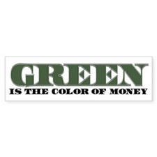Green Money Bumper Sticker (10 pk)