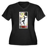 Girl Dance Fame 2 Women's Plus Size V-Neck Dark T-