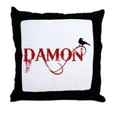 Damon Crow Throw Pillow