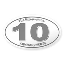 Mirror of the 10 Commandments Oval Decal
