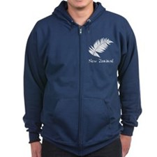 New Zealand Leaves Zip Hoodie