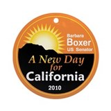 Boxer New Day Ornament (Round)