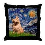 """Starry"" in Starry Night Throw Pillow"