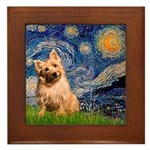 """Starry"" in Starry Night Framed Tile"