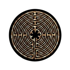 "Chartres Labyrinth Pearl 3.5"" Button"