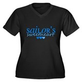Sailor's sweetheart - blue Women's Plus Size V-Nec