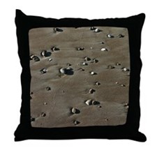 California Coast Beach Pebble Throw Pillow