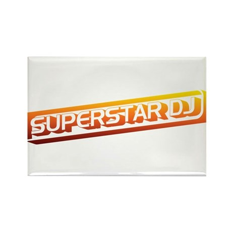 Superstar DJ Rectangle Magnet