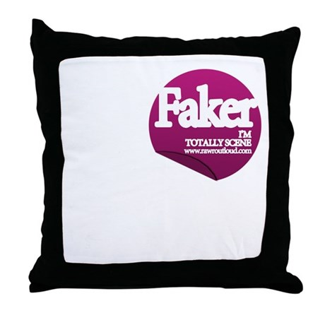 Faker Throw Pillow