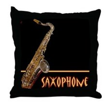 Tenor Sax Throw Pillow