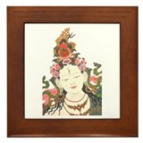 White Tara Framed Tile
