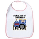 Engineer First Birthday Bib