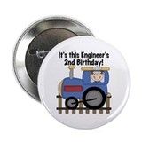 "Engineer 2nd Birthday 2.25"" Button"