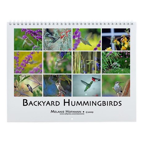 Backyard Hummingbird Wall Calendar