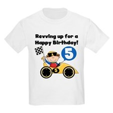 Race Car 5th Birthday T-Shirt