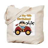 Race Car 4th Birthday Tote Bag
