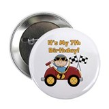 "Race Car 7th Birthday 2.25"" Button"