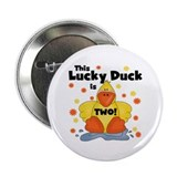"Lucky Duck 2nd Birthday 2.25"" Button"