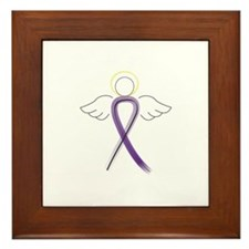 Cute Pancreatic cancer support Framed Tile