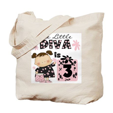 Diva 3rd Birthday Tote Bag