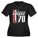 Musclecars 1970 Women's Plus Size V-Neck Dark T-Sh