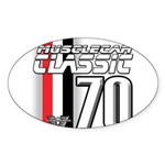 Musclecars 1970 Oval Sticker (10 pk)