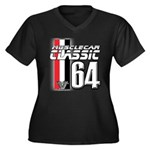 Musclecars 1964 Women's Plus Size V-Neck Dark T-Sh