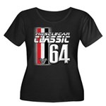 Musclecars 1964 Women's Plus Size Scoop Neck Dark
