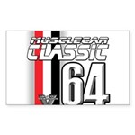 Musclecars 1964 Rectangle Sticker 50 pk)